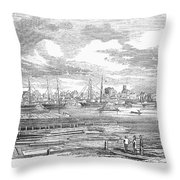 North Carolina: Wilmington Throw Pillow