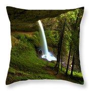 North Falls Cavern Throw Pillow
