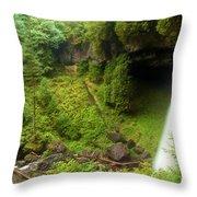 North Falls Waterfall Throw Pillow