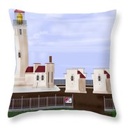 North Head Lighthouse Original Structures Throw Pillow