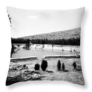 North Pool In 1939 Throw Pillow