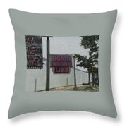 North Shore Line Signage Digital Art Throw Pillow