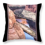 North Side Of Horseshoe Bend Throw Pillow