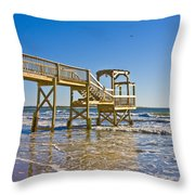 North Topsail Island Throw Pillow