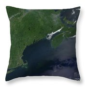 Northeast United States And Canada Throw Pillow