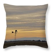 Northern California Windmill Throw Pillow