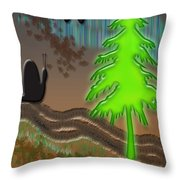 Northern Glow Throw Pillow