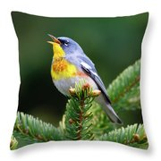 Northern Parula Parula Americana Male Throw Pillow