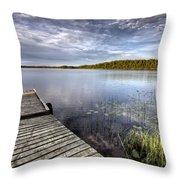 Northern Saskatchewan Lake Throw Pillow