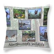 Northwoods Wildlife Throw Pillow