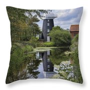 Norton Marsh Mill Norfolk Throw Pillow