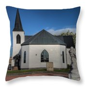 Norwegian Church Cardiff Bay 2 Throw Pillow