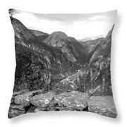Norwegian Valley Throw Pillow