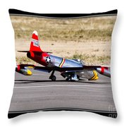 Nose Gear Trouble Throw Pillow