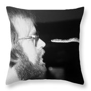 Nose Too Nose With A Boa Snake Throw Pillow