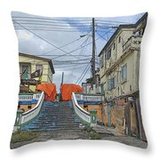 Not The Spanish Steps Throw Pillow