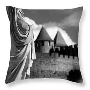 Notre Dame Carcassonne Throw Pillow