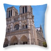 Notre Dame Cathedral Paris France Throw Pillow