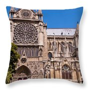 Notre Dame Cathedral Rose Window Throw Pillow