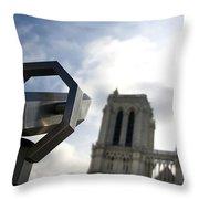 Notre Dame De Paris. France Throw Pillow