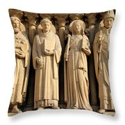 Notre Dame Details 1 Throw Pillow