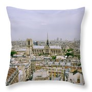 Notre Dame In Paris Throw Pillow