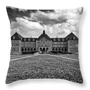 Notre Dame Seminary Monochrome Throw Pillow