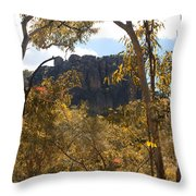Nourlangie Rock Outlook Throw Pillow