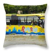 Novel River Boat Throw Pillow