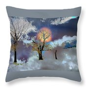November Moon Throw Pillow