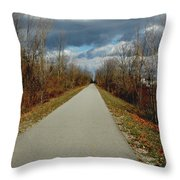 November On Macomb Orchard Trail Throw Pillow