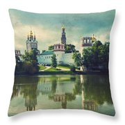Novodevichy Convent. Moscow Russia Throw Pillow