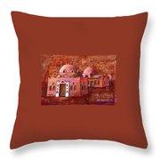 Nubian Houses Throw Pillow
