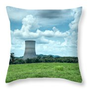 Nuclear Cooling Tower Throw Pillow