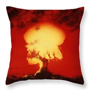Nuclear Explosion Throw Pillow