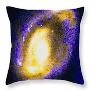 Nucleus Of Cartwheel Galaxy With Knots Throw Pillow