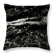 Nude In The Sea Throw Pillow