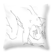 Nude-male-artwork-21 Throw Pillow