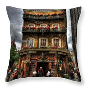 Number 52 Victoria Street Throw Pillow
