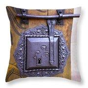 Nuremberg Castle Door Lock Throw Pillow