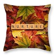 Nurture-autumn Throw Pillow