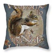 Nut House Throw Pillow