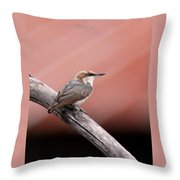 Nuthatch - Bird - Barn Roof Throw Pillow