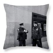 Ny Beat Cops Holding The Banana Republic Throw Pillow