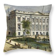 Ny County Courthouse Throw Pillow