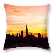 Ny Saturday Sunrise Throw Pillow
