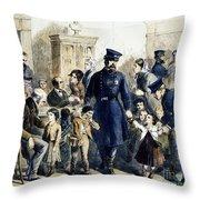 Ny Slum Children, 1864 Throw Pillow