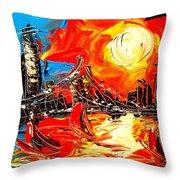 Ny Usa Throw Pillow
