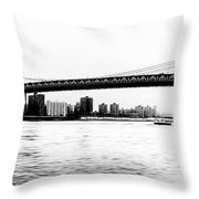 Nyc - Manhattan Bridge Throw Pillow