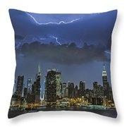 Nyc All Charged Up Throw Pillow